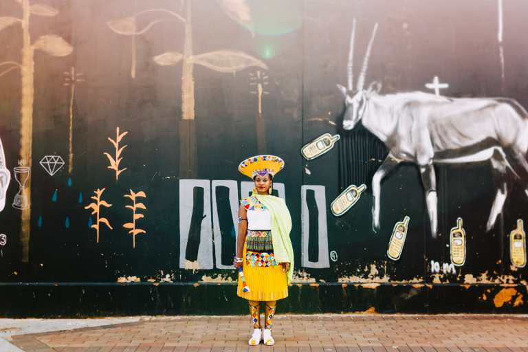 Johannesburg photographer traditional zulu wedding dress Amsterdam portrait bride Maboneng