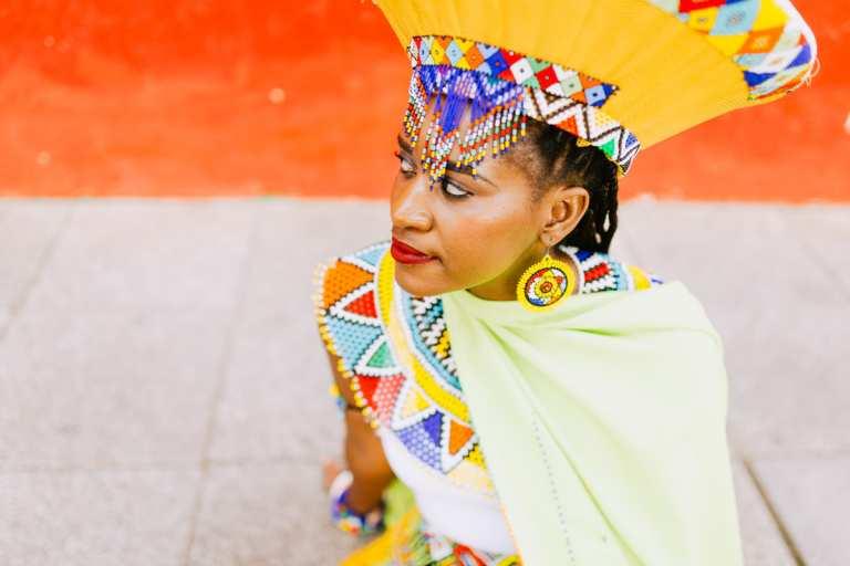 Phillipine In Her Traditional Zulu Wedding Dress Johannesburg